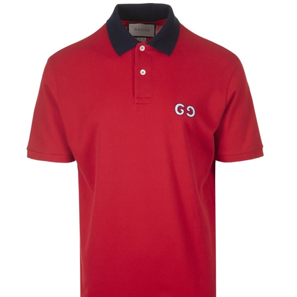 GUCCI Other - GUCCI MEN POLO EMBROIDERY LOGO CONTRAST